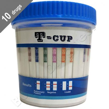 T-Cup 10 drug testing kits