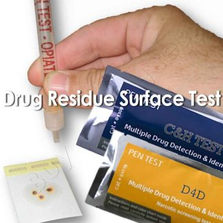 Drug residue surface detection test