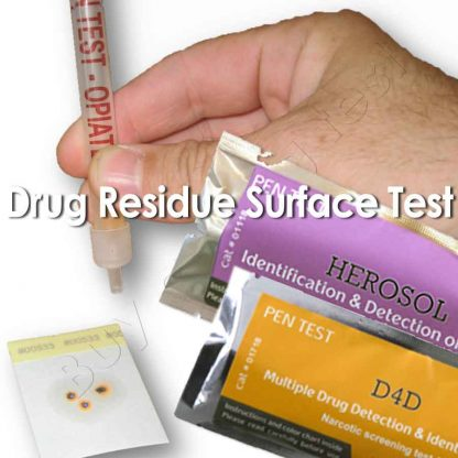 Multiple drug residue surface test for unknown substances